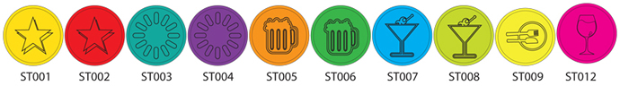 Selection of Embossed Stock Tokens